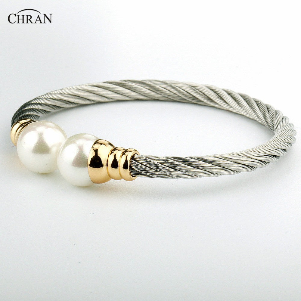 CHRAN Silver Plated Pearl Costume Brand Jewelry Promotion Fashion
