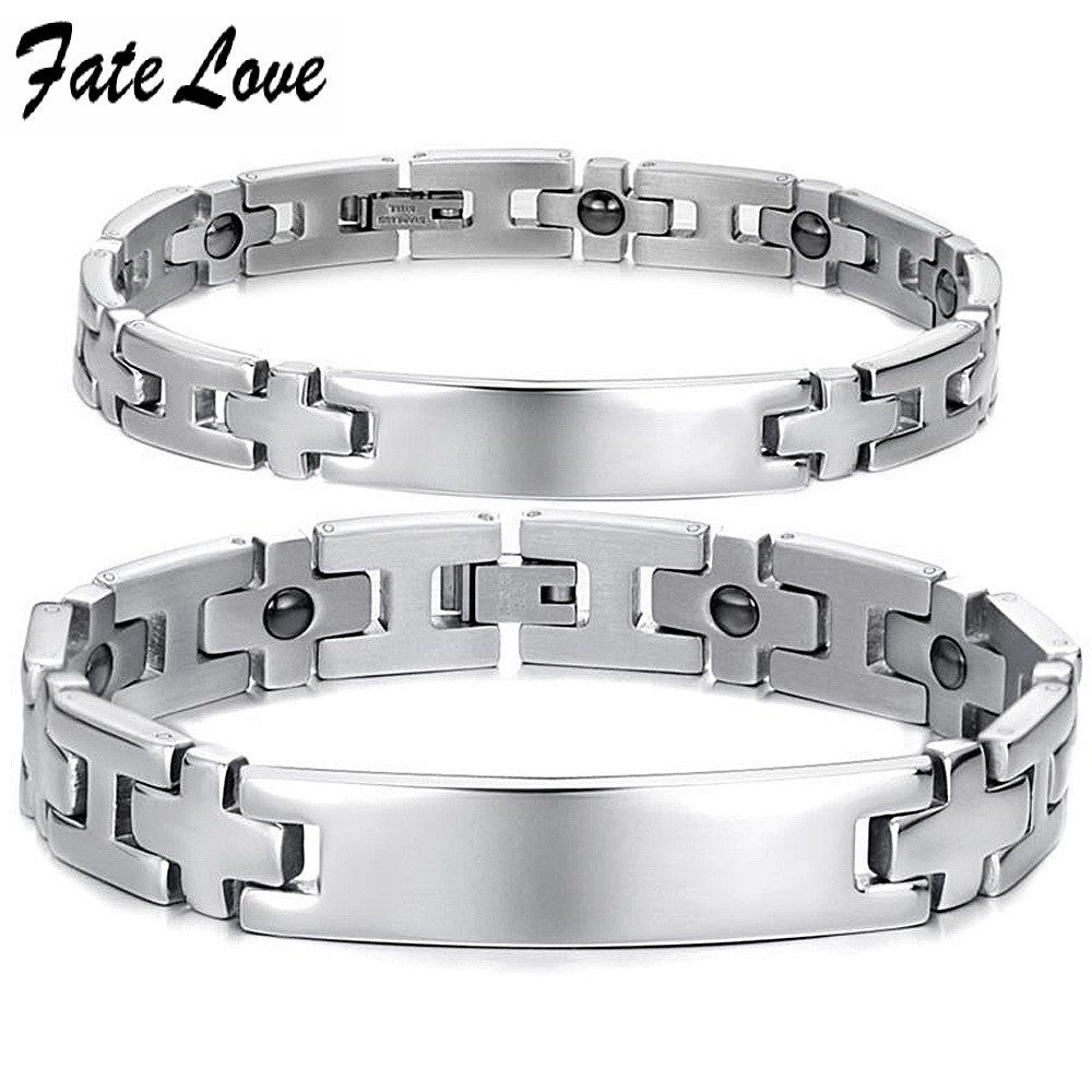 Customerized Engraved Jewelry fashion bracelet anti-fatigue health