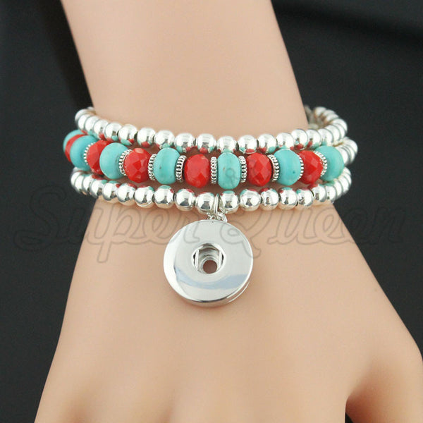 Christmas bell gift 12/18mm snap button Multilayer Bracelet&Bangles