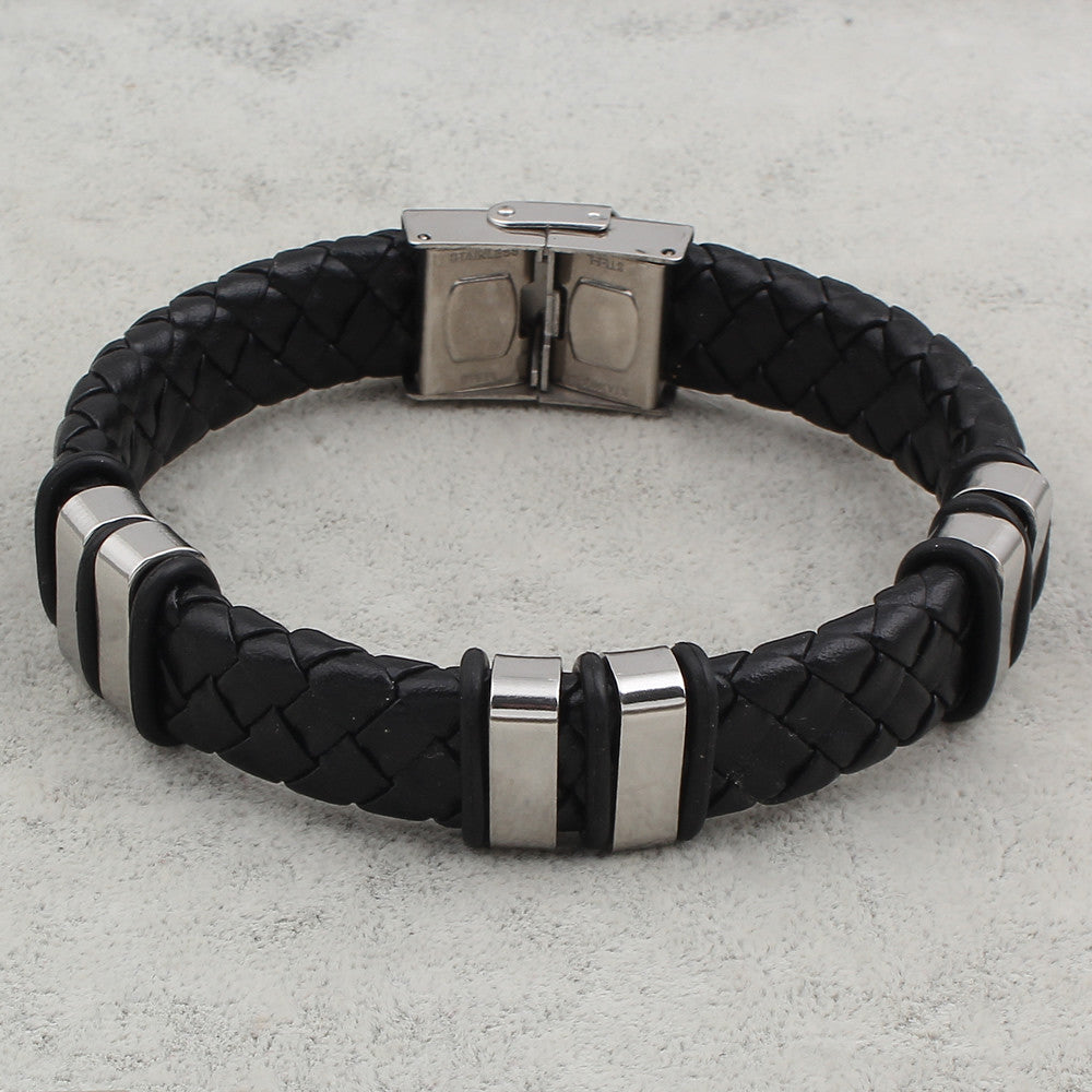 Classical Handmade Braid Leather Cord Weaved Cool Man Bracelets