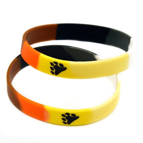 New Arrival 100PCS/Lot Printed Bear Pride Silicone Bracelet