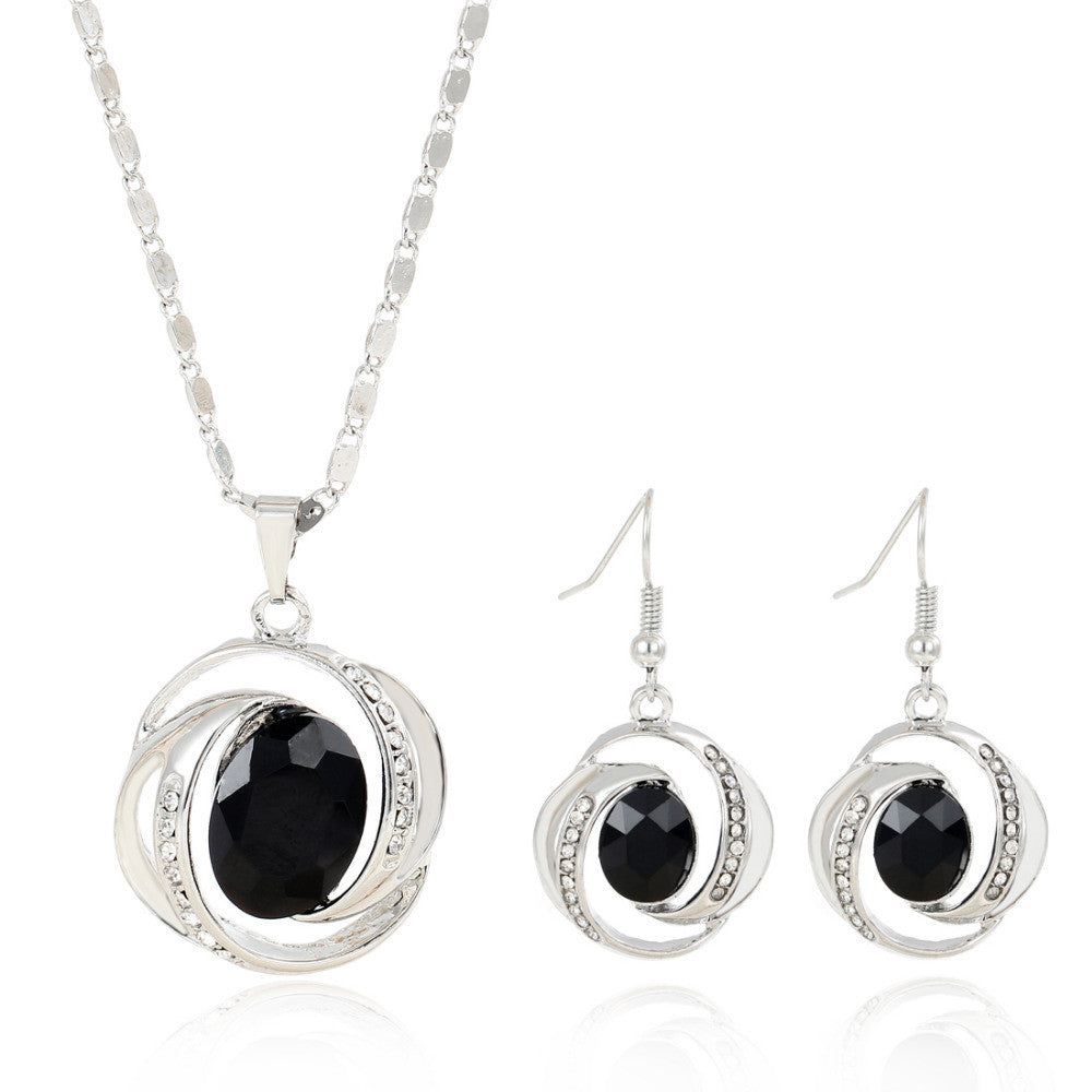 Charming Black Pendant Jewelry Set Female Hot Selling Summer Party