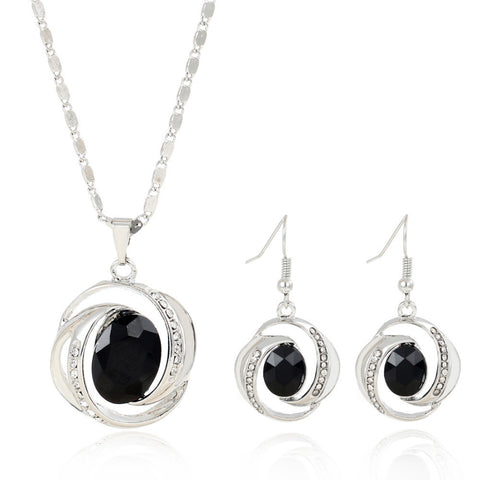 Charming Black Pendant Jewelry Set Female Hot Selling Summer Party Accessory Pretty Dress Jewelry