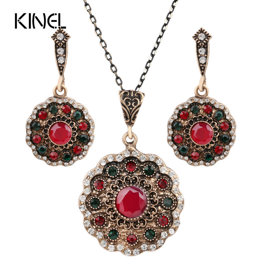 Crystal Flower Necklace Sets Fashion Earing For Women 2016