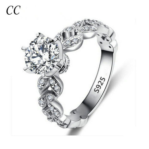 Luxury fashion jewelry rings for women 1.5 carat cz diamond rings wedding bands for lover engagement jewelry wholesale CCR097