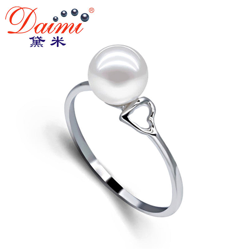 [Daimi] 6-7mm White /Purple Freshwater Pearl 925 Sterling Silver