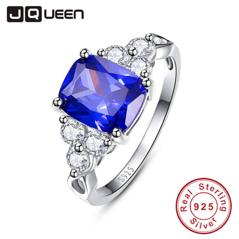 Elegant Rings Love Gift Tanzanite Blue Engagement Ring Silver 925 Rings CZ Women Size 6 7 8 9 Brand Wedding Bands Y0046R28