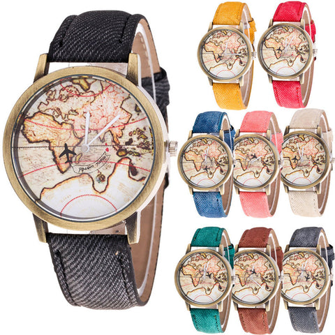 Top brand luxury watch montre femme 2017 Relogio Fashion Women's watches World Map Cowboy Band Quartz Wrist Watches Brief Design