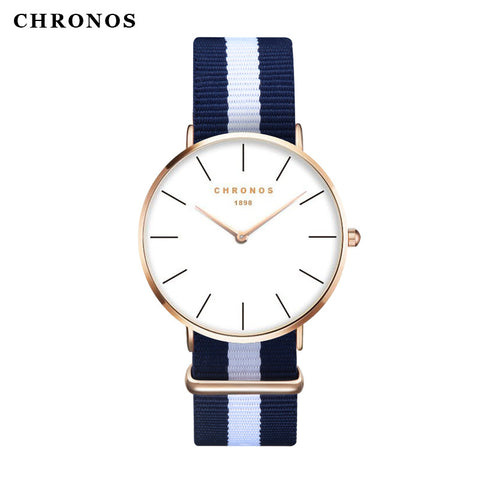 CHRONOS 1898 Watches Men's Watches Rose Gold Silver ladies Fashion Dress Casual Quartz Clock Male Women Wristwatch Montre Femme
