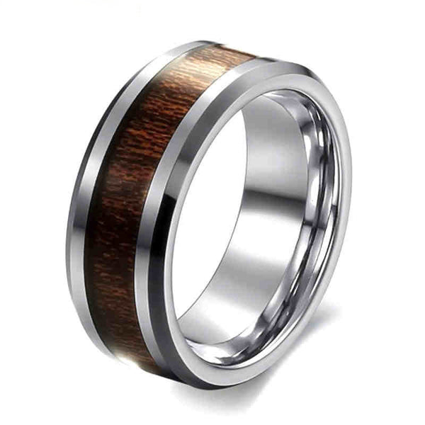 classic style 8mm mens ring stainless steel ring retro