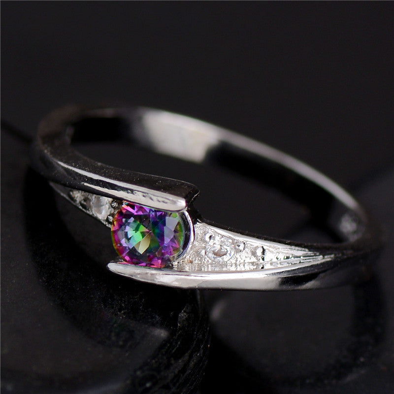 Promotion Cheap!!! Hot 1pc Silver Fine Jewelry Colorful CZ Fabulous