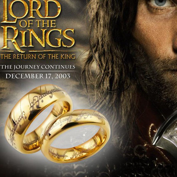 Fashion Movie Jewelry The Lord of One Ring of Power 6mm Men's