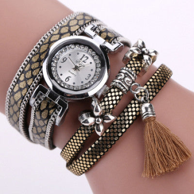 designer bracelet Watches Women's Fashion Ladies Leather Rhinestone