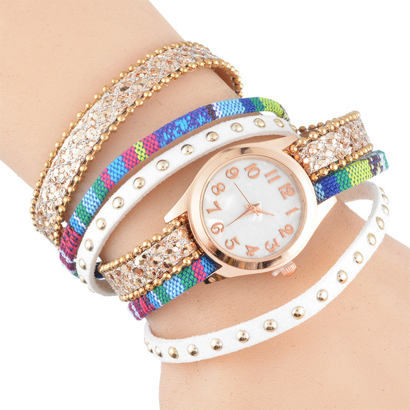 Crystal Rhinestone Watches Women Antique Rose Gold Plated Ladies Watch