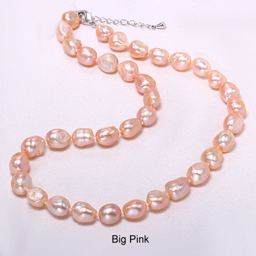 Daimi Genuine Baroque Pearl Necklace, Trendy Necklace For Everyday,