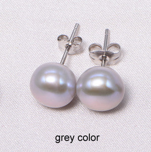 DAIMI Cultured Pearl Stud Earrings Women 7-8mm 8-9mm Paragraph