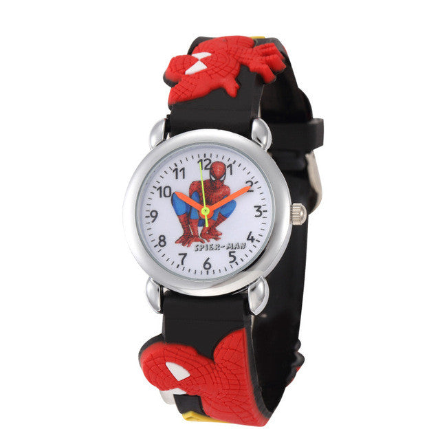 Children Cartoon Hello Kitty Watches 2016 Cool 3D Rubber Strap Kids