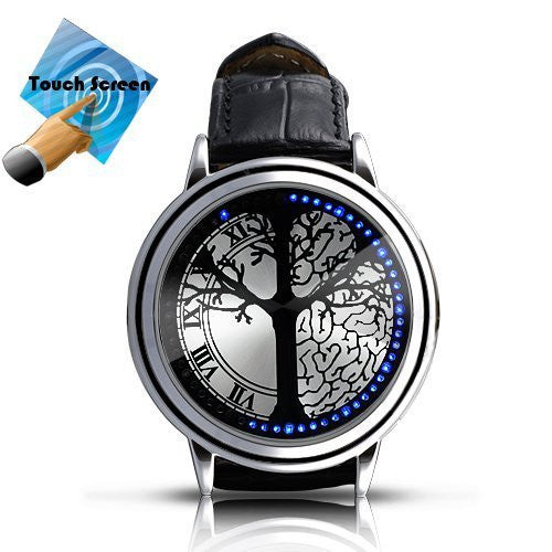 Creative Personality Minimalist Leather Normal Waterproof LED Watch