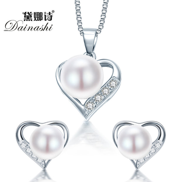Dainashi Romantic Heart Sterling Silver Jewelry Pendant Necklace &