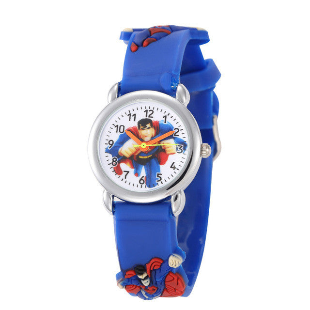 Children Cartoon Mouse Clock Watches 2016 Cool 3D Rubber Strap Kids