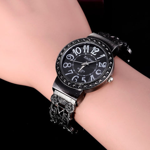 Hot Sale Retro Bracelet Watch Women Watches Luxury Rhinestone Ladies Watch Women's Watches Clock relogio feminino reloj mujer
