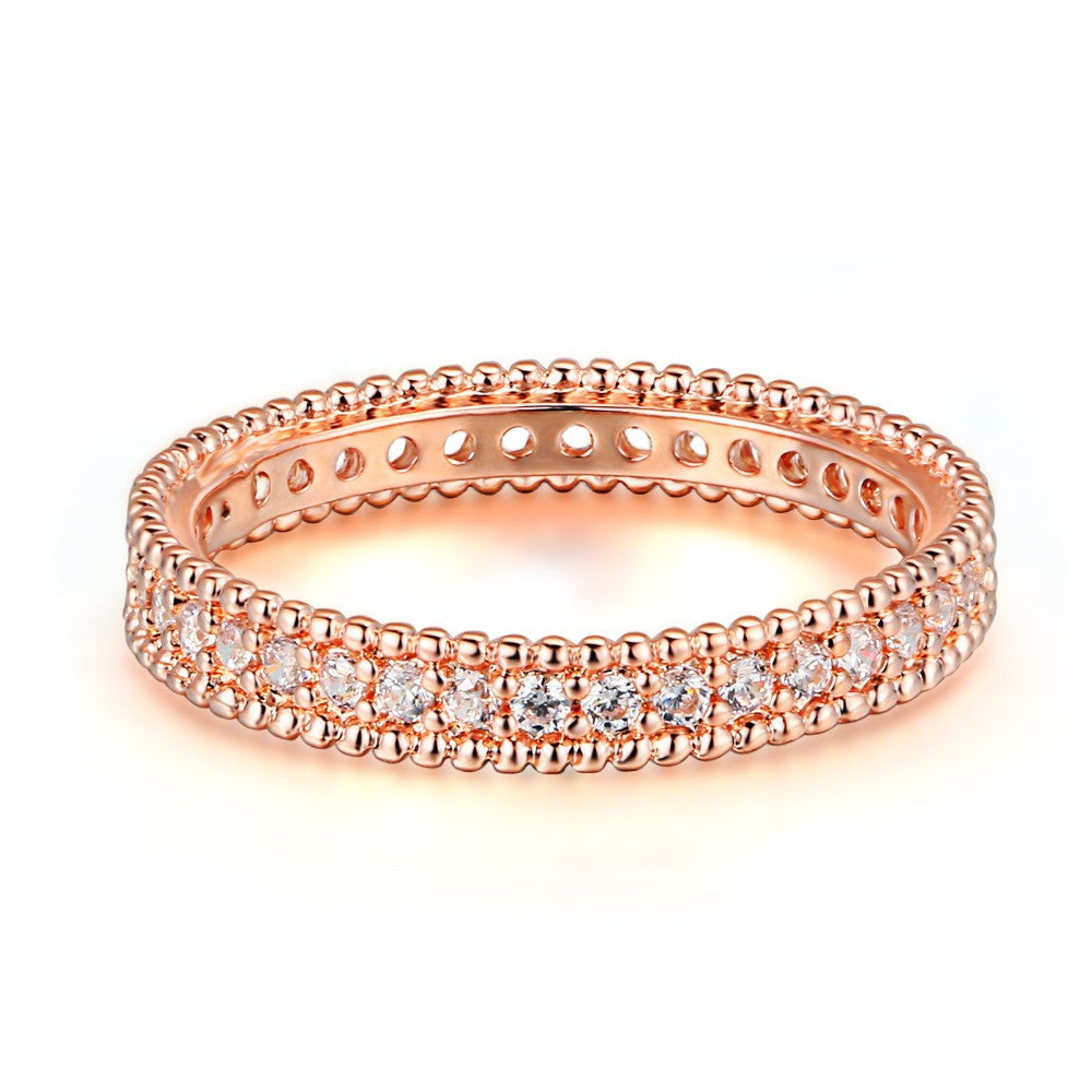 Classic Wedding & Engagement AAA+ Cubic Zirconia Ring Rose Gold