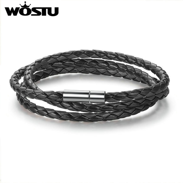 WOSTU 2017 Hot Sale 6 Color 60CM PU Leather Wrap Bracelet With
