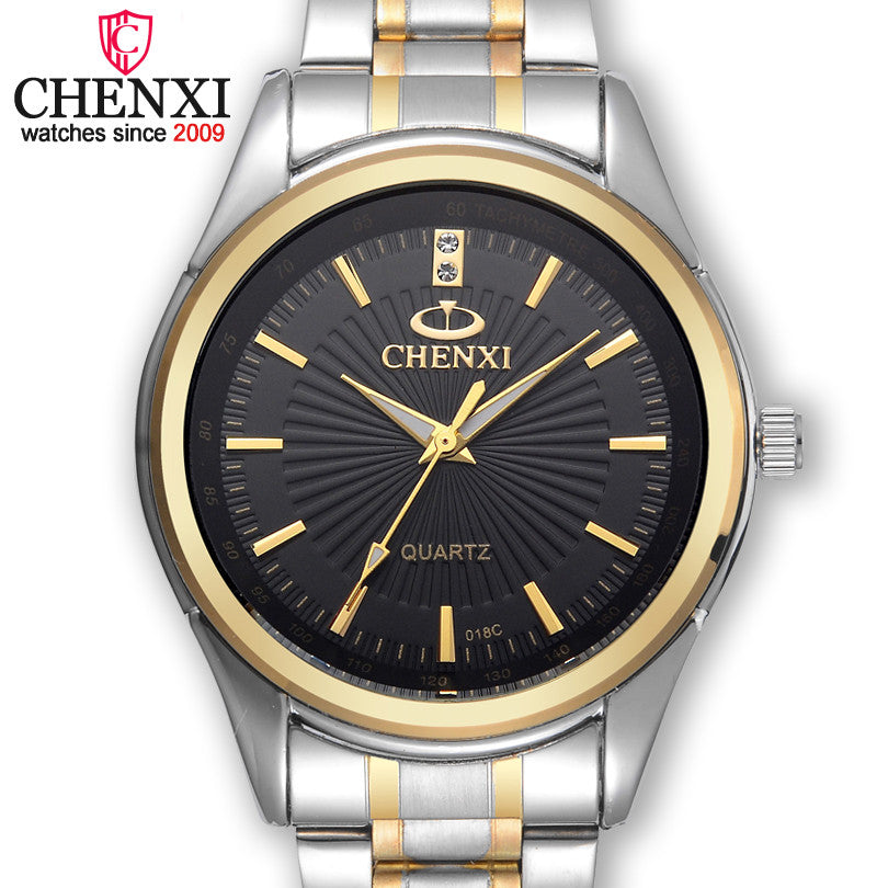 CHENXI Brand Fashion Luxury Watch Men Casual Stainless Steel Gold Gift