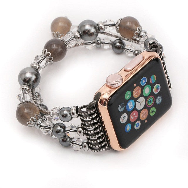 Women's Agate Stretch Bracelet for Apple Watch Band for iWatch 42mm