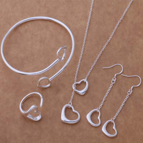AS078 Hot 925 sterling  silver Jewelry Sets Earring 187 + Necklace 599