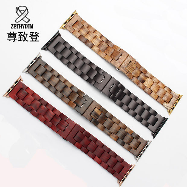New wooden bracelet 22mm 24mm for iwatch band 38mm 42mm quality