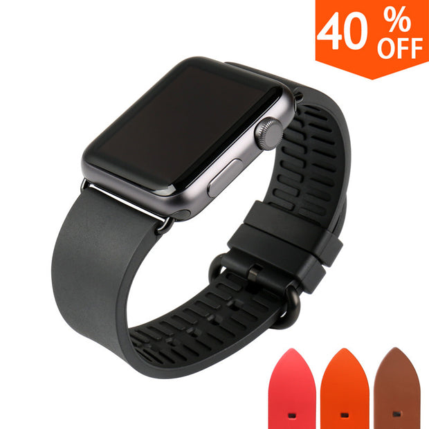 MAIKES New watch accessories black rubber watchbands for sports