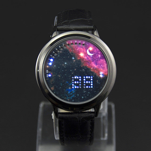 Creative personality Starry sky Galaxy Touch Screen watch women