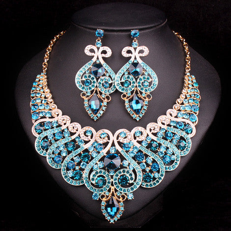 Fashion Bridal Jewelry Sets Wedding Necklace Earring For Brides