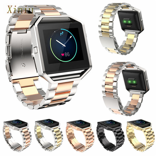 Stainless Steel Bracelet Strap Women Men Watch Band For Fitbit Blaze