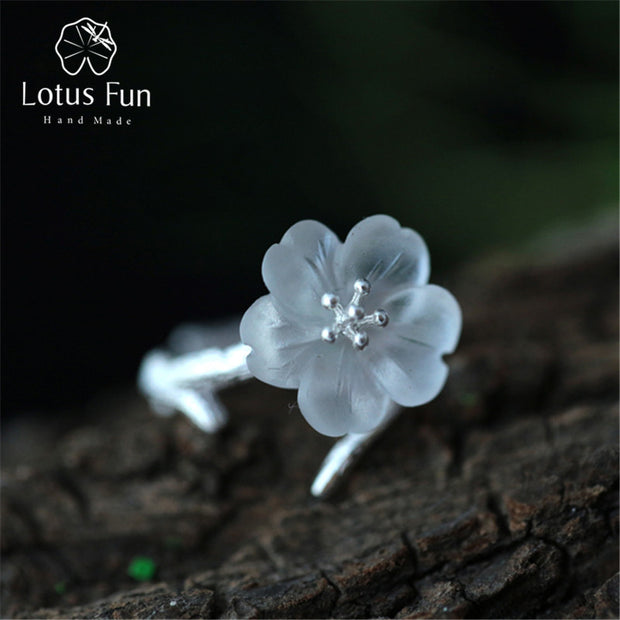 Lotus Fun Real 925 Sterling Silver Natural Handmade Fine Jewelry