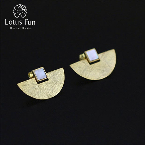 Lotus Fun Real 925 Sterling Silver Natural Stone Handmade Fine Jewelry