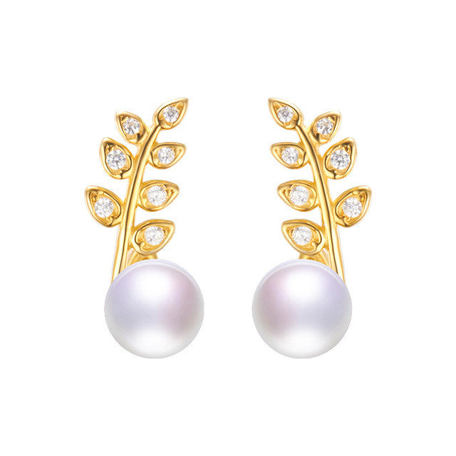 Dainashi the new listing silver stud pearl earrings brand fine jewelry