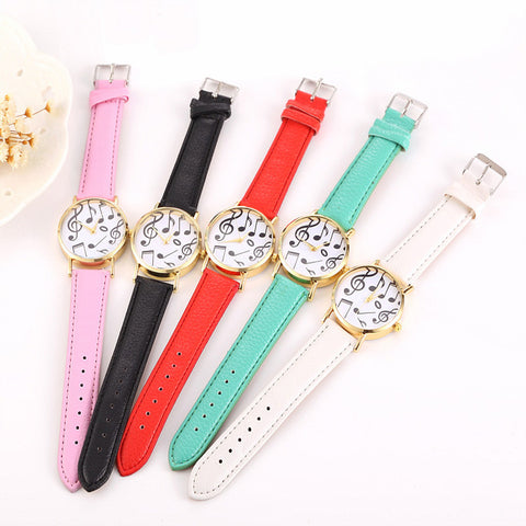 Cindiry Ladies Fashion Quartz Watch Women Leather Strap Casual Women's Watch Reloje Mujermont