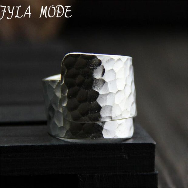 S999 999 Fine Jewelry Silver Open Ring Male Pure Silver Vintage Finger
