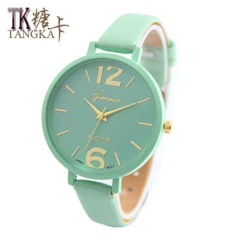 New 4 color  Fashion women's Watches luxury watch round Geneva clock