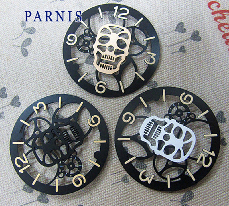 Cheap Sale Watch Accessories Parts, 38.8mm Mens Skeleton Mechanical