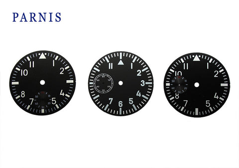 Watch Face Accessories Parnis 38.9mm Watch Dial fit 6497 6498 Movement Men's Watch Luminous Number Mechanical Watch Part