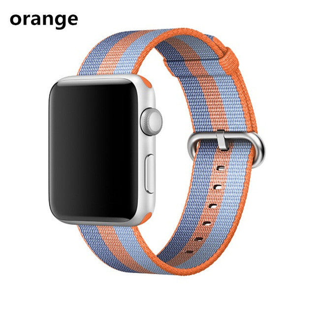 CRESTED Woven Nylon strap band For Apple Watch band 42 mm 38 mm