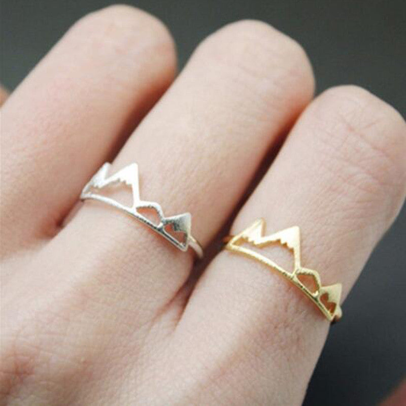 SMJEL 2017 New Fashion Open Snow Mountain Rings For Women Birthday