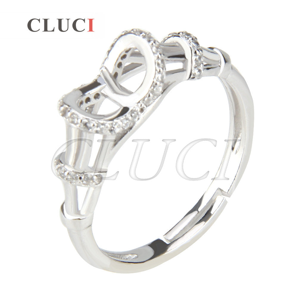 CLUCI vintage women hand jewelry 925 sterling silver adjustable