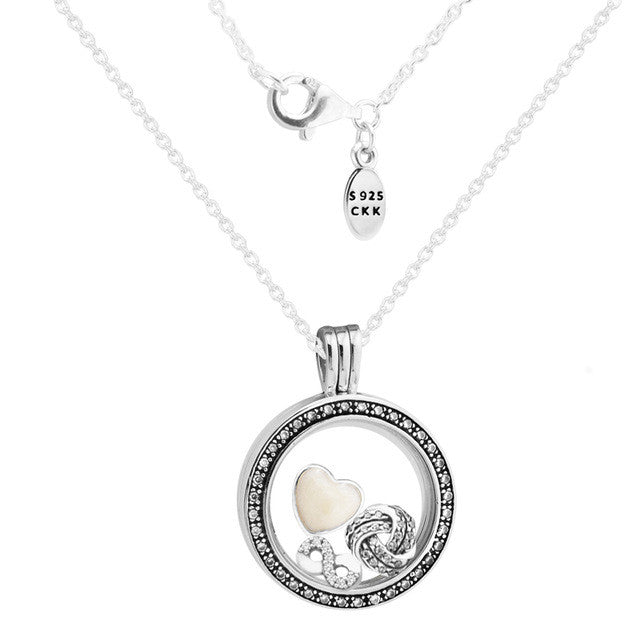 CKK 925 Sterling-Silver-Jewelry Silver Necklaces for Women DIY