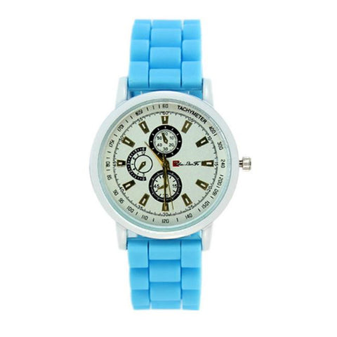 Fashion Women's Watch Luxury Silicone Rubber Jelly Gel Quartz Casual