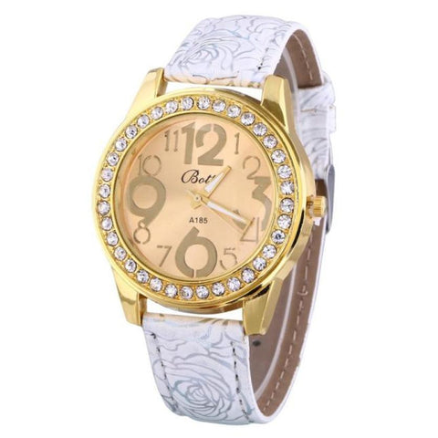 Fashion Women's Watch  Leather Band Quartz Analog Casual Sport Wrist