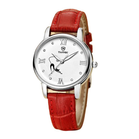 Fashion Women's Watch Tiannbu Handcrafted Ultrathin Date Small